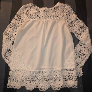 cdb5eff863fe2e Rosewe · White Lace Top☀️